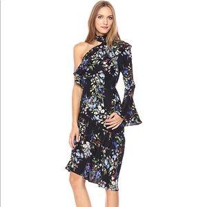 ❤️Parker Rine One-Shoulder Silk Dress Black Boboli